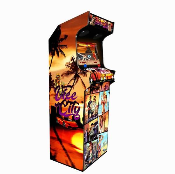 Borne Arcade Classic Profil Gauche Modèle GTA Vice ma-borne-arcade.fr.jpg.jpg