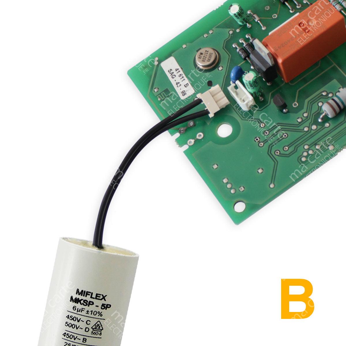 Condensateur 6uf 6µf Compatible 6 5uf Moteur Volet Bubendorff Avec Connecteur Ma Carte Electronique