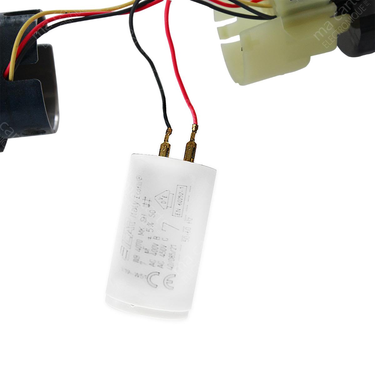 Condensateur 7uf 7µf Pour Moteur De Volet Store Somfy Et Simu Cosses Faston 2 8mm Ma Carte Electronique