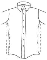 Chemise en coupe ajustée