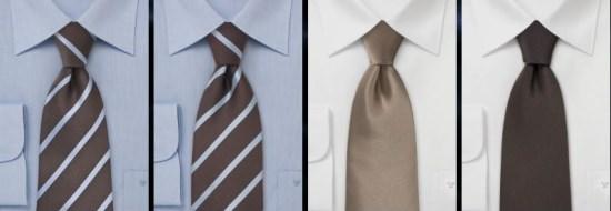 Des cravates marrons