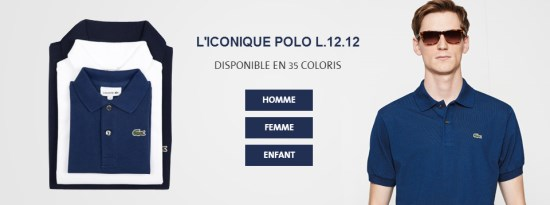 Polo Lacoste en 35 coloris