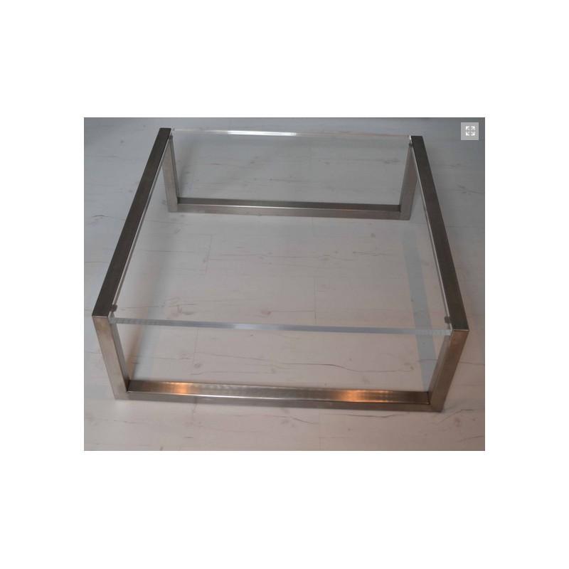 table basse carree 85cmx85cm en inox