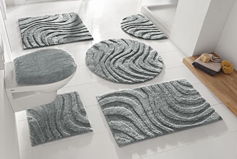 tapis salle de bain design formes tapis de salle de bain