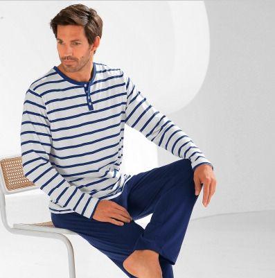 Pour Des Vacances Cocooning Offrez A Votre Compagnon Un Pyjama Homme Grande Taille Blancheporte Fr