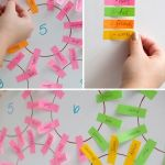 Faire son plan de table avec des post-its de couleur