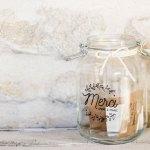 Une urne de mariage champêtre 100% en verre