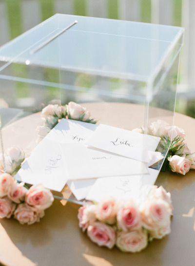 urne de mariage en verre