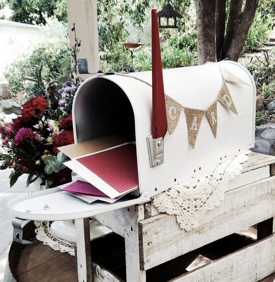 urne de mariage boîte aux lettres