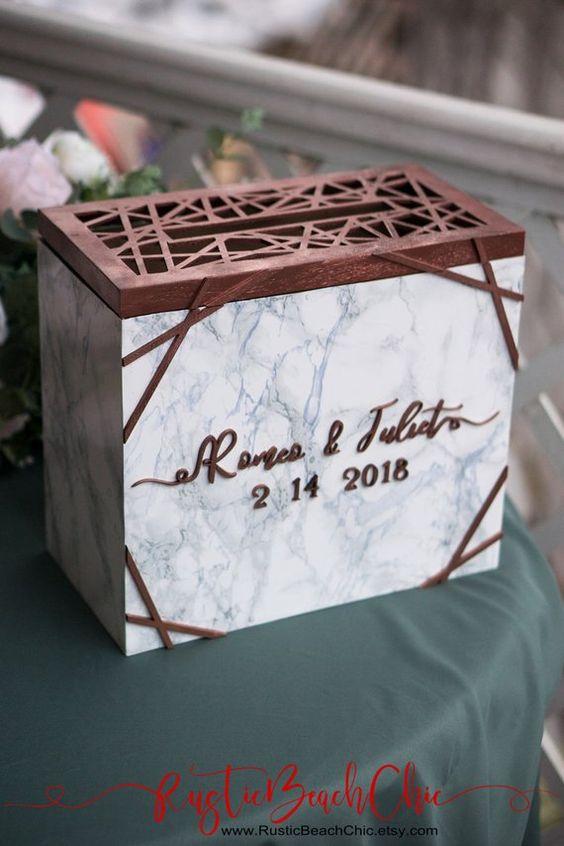 urne de mariage géométrique