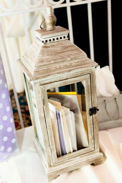 urne de mariage lanterne