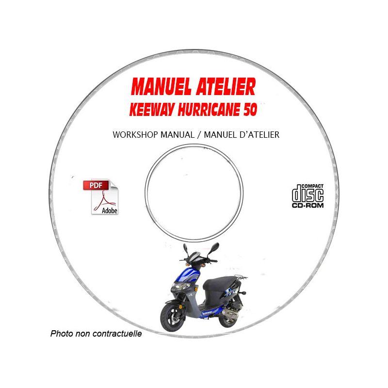 revue technique KEEWAY HURRICANE 50 Manuel d'Atelier sur