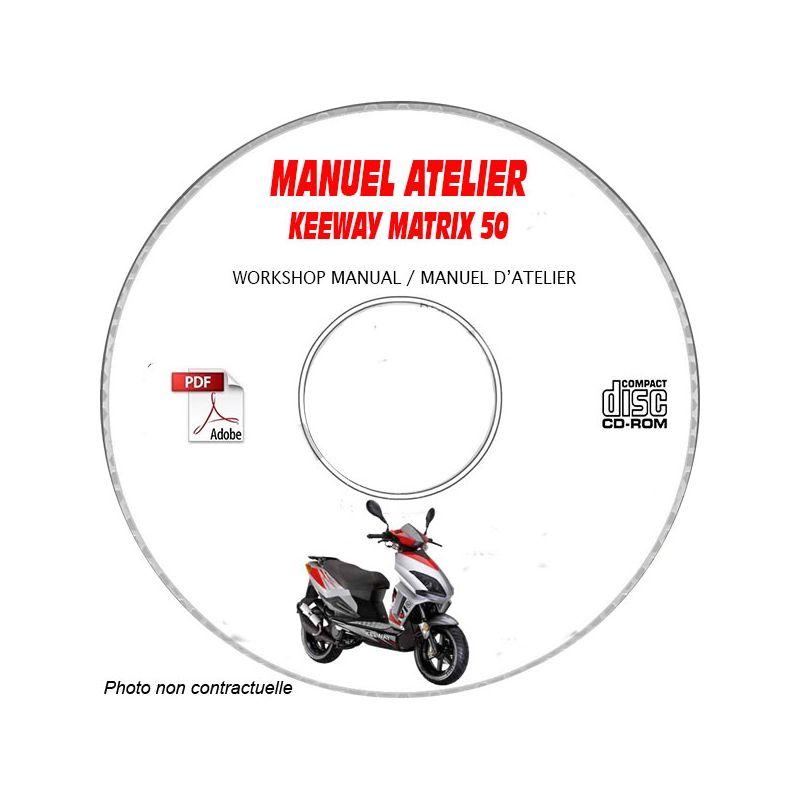 revue technique KEEWAY MATRIX 50 Manuel d'Atelier sur CD