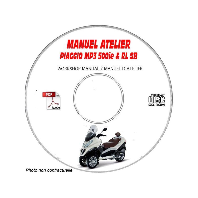 revue technique PIAGGIO MP3 LT 500 IE RL sport Business