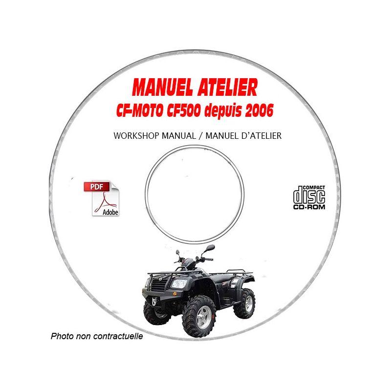 revue technique CF-MOTO CF500 Depuis 2006 Manuel d'Atelier