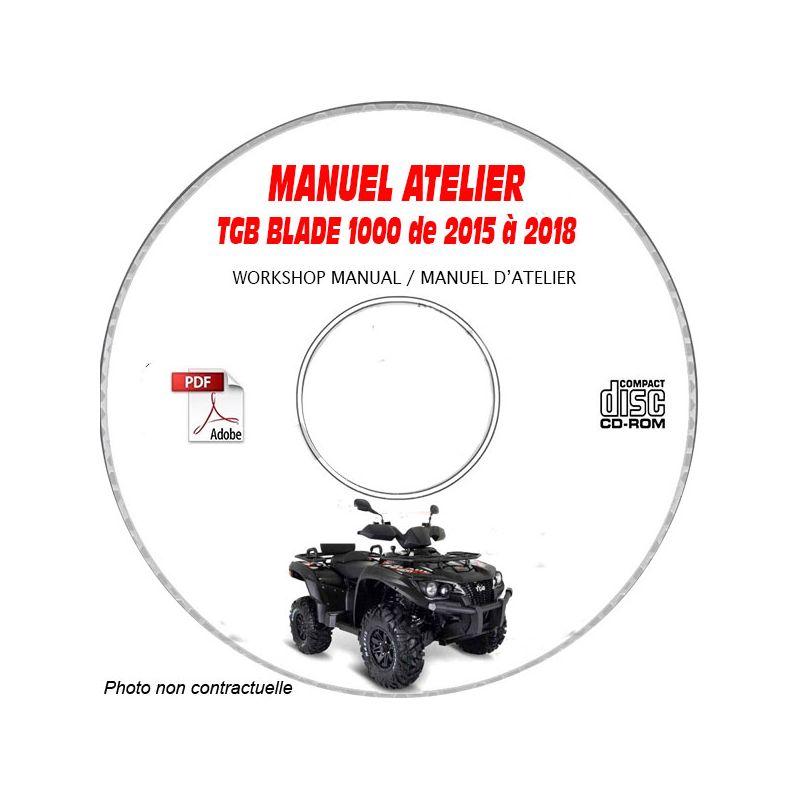 revue technique TGB BLADE 1000 de 2015 à 2018 Manuel d
