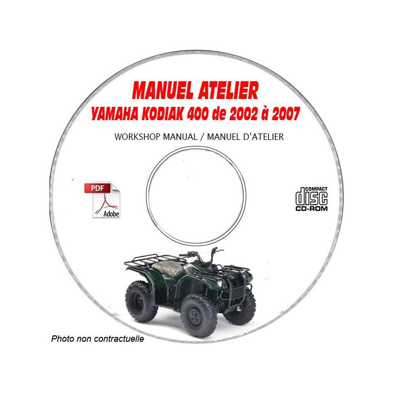 revue technique YAMAHA KODIAK 400 de 2002 à 2007 Type