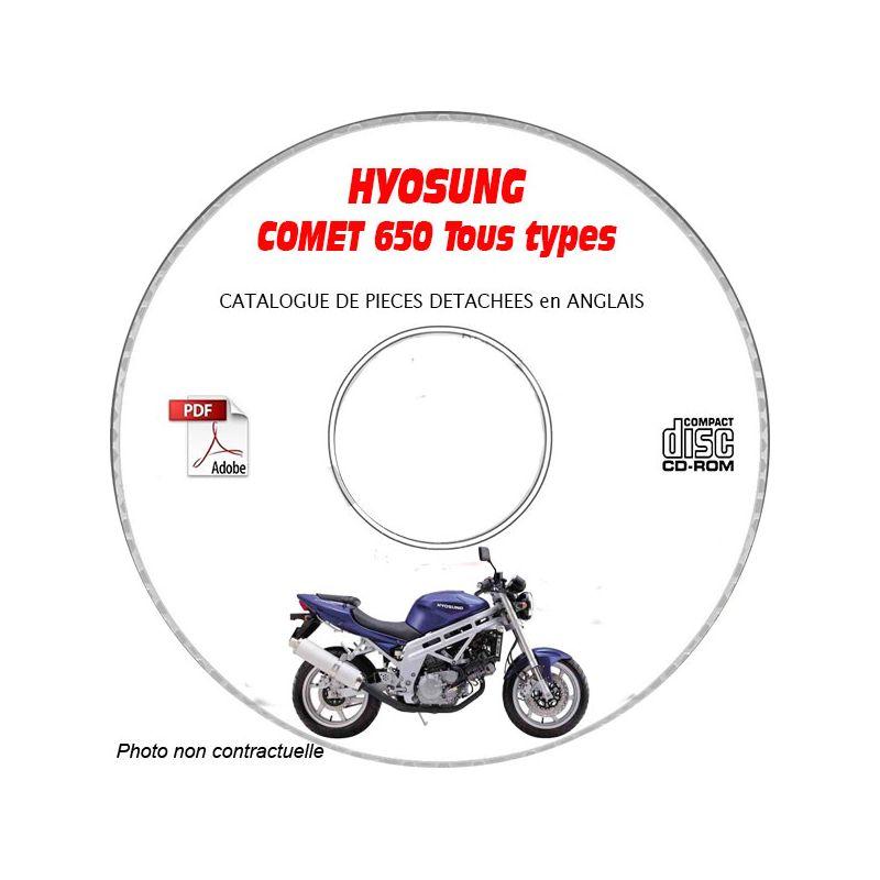 revue technique HYOSUNG COMET 650 tous types Catalogue des