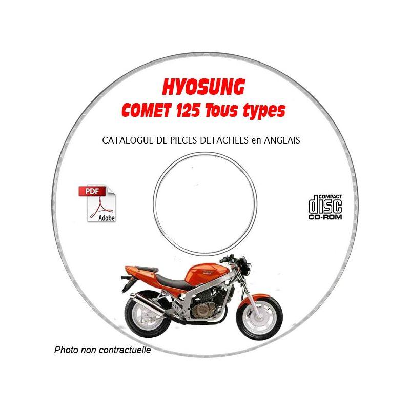 revue technique HYOSUNG COMET 125 GT Catalogue des Pièces