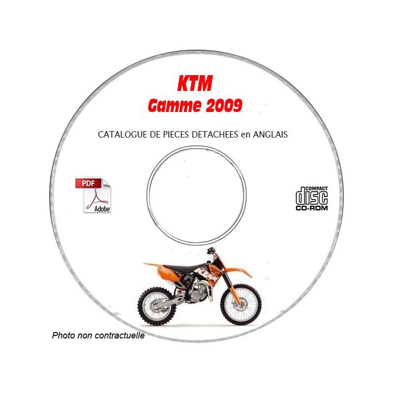 revue technique GAMME COMPLETE KTM de 2009 Catalogue des