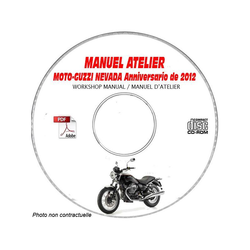 revue technique MOTO-GUZZI NEVADA 750 ANNIVERSARIO de 2012
