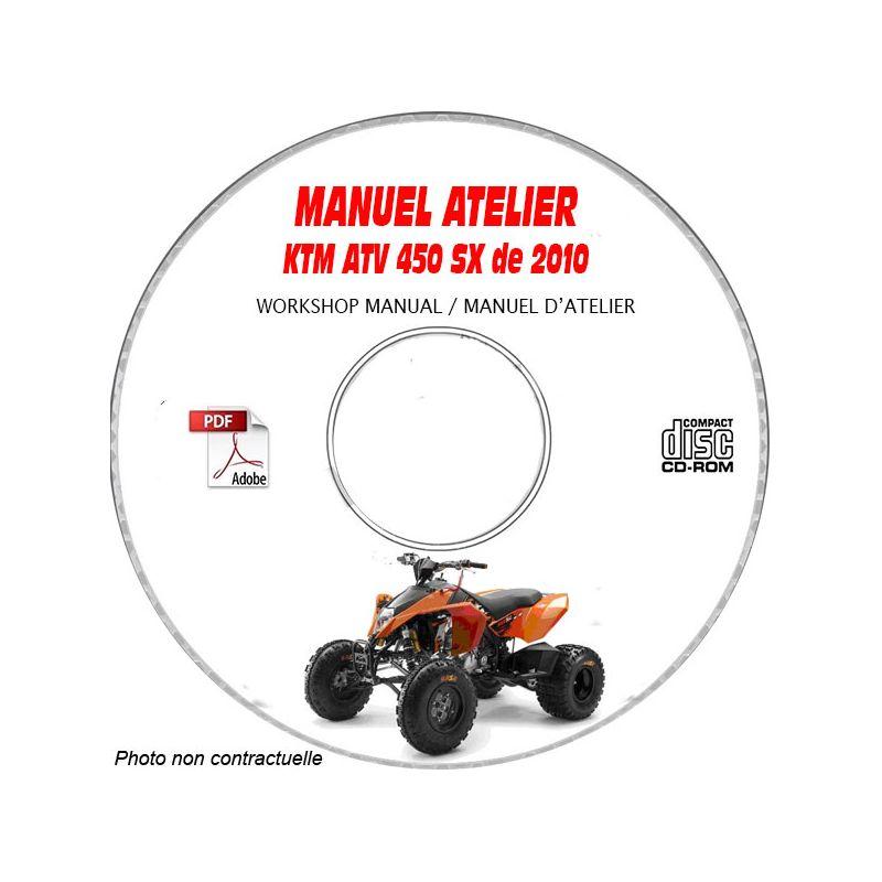 revue technique KTM ATV 450 SX de 2010 Manuel d'Atelier