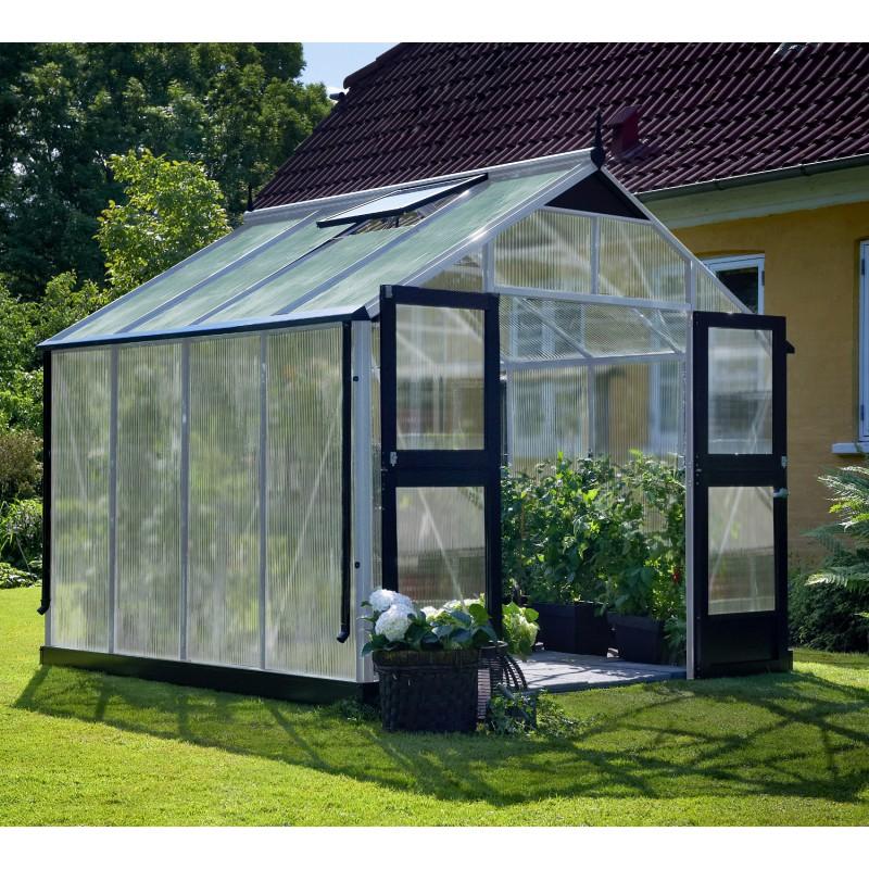 Serre de jardin 88m aluminium et polycarbonate 10mm Premium Juliana