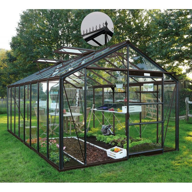 serre de jardin 18 10m en verre trempe 4mm victorian embase royal