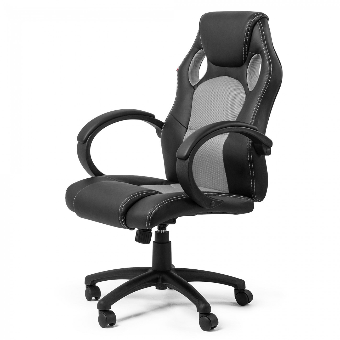 x racer chair best ikea office my sit racing silver synthetic leather