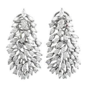 8.6 Carat Diamond 18 Karat Gold Florence Earrings