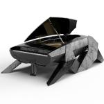 ITALIAN BLACK MARBLE HYPER PIANO