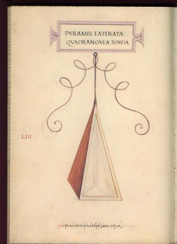 Leonardo Da Vinci' Geometric Sketches - Square Pyramid