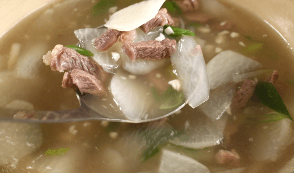 Beef and Radish Soup Soegogimuguk recipe Maangchicom