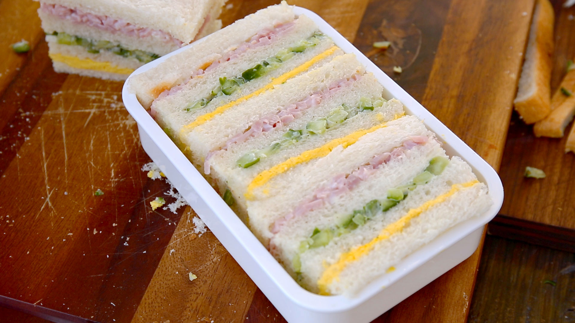 Three Color Sandwich Samsaek Sandwich Recipe