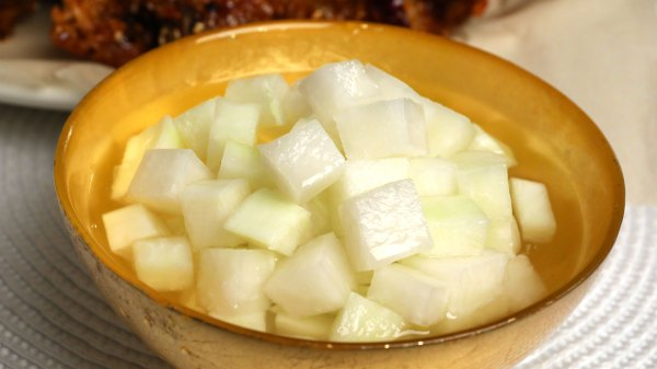 Pickled radish Chickenmu 치킨무 recipe Maangchicom