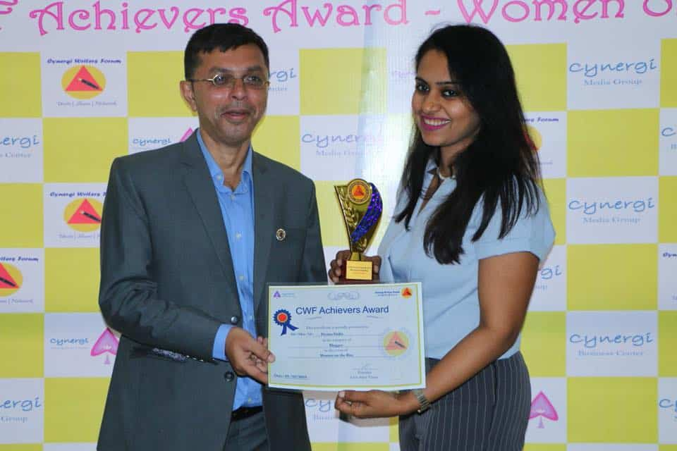 A Boost To My Work- Cynergi Writers Forum Awards