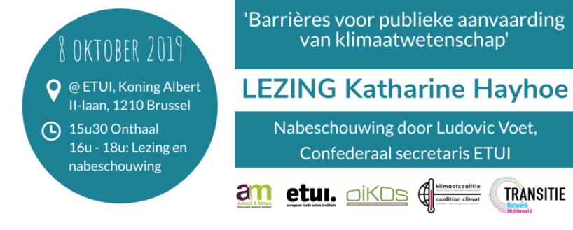 Maarten van Leeuwen aanwezig bij lezing Katharine Hayhoe