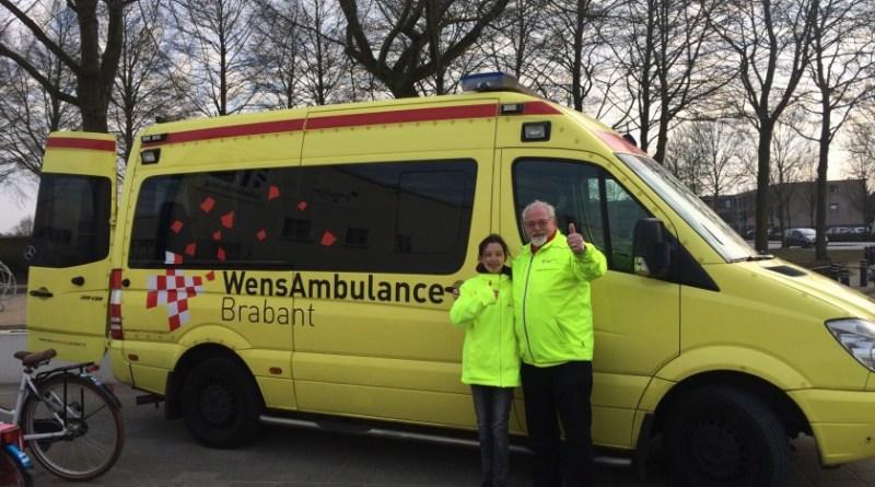 Wensambulance met Rinie van der Donk in Maaspoort