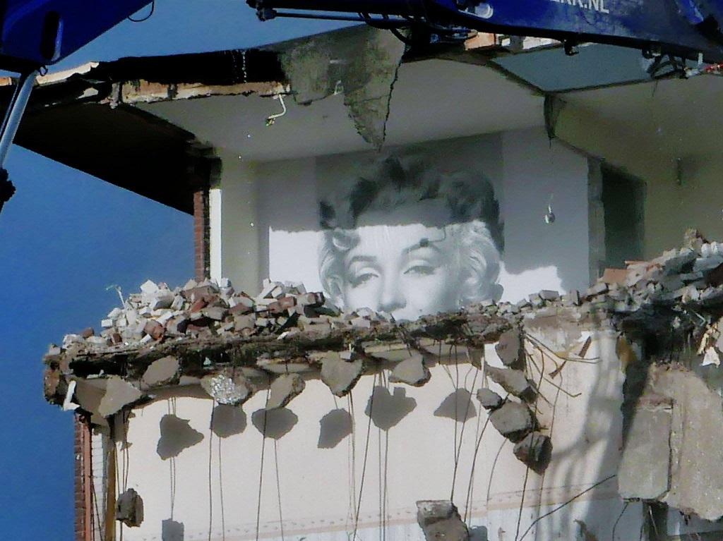 © Nel Wilkes - Schuchter kijkt Marilyn de wereld in