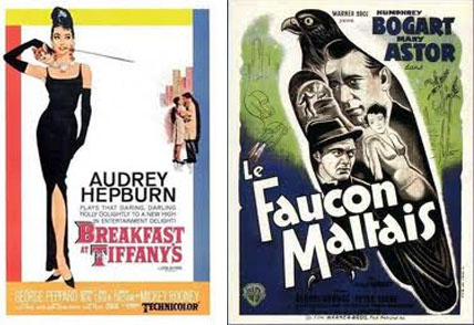 Vintage poster - Le Faucon Maltais - Breakfast at Tiffany's