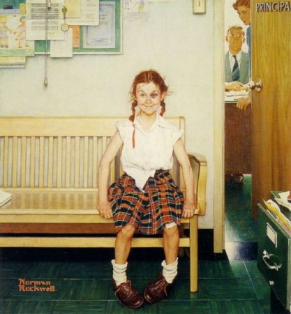Girl with black eye - Norman Rockwell