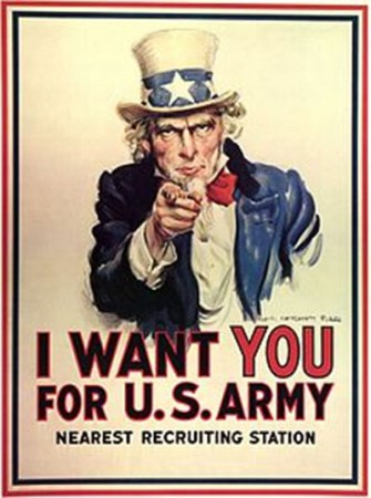 Uncle Sam - Vintage Poster - I want you for US Army