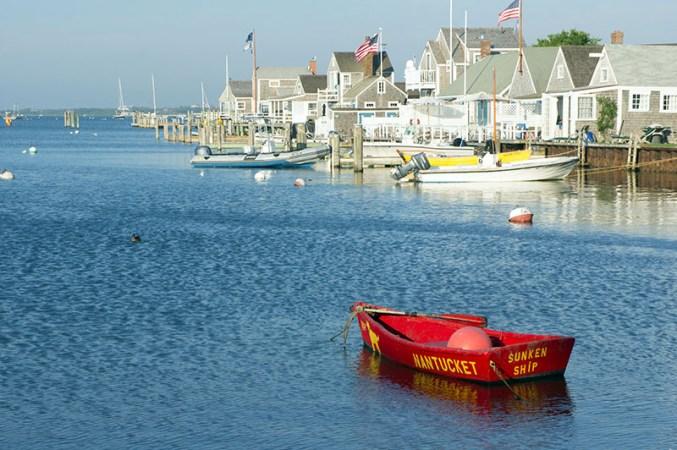 Nantucket Town - The sunken ship