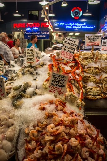 Pike Place Market Seattle crabes