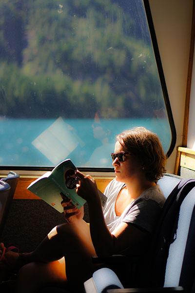 Lire en vacances - Mathilde