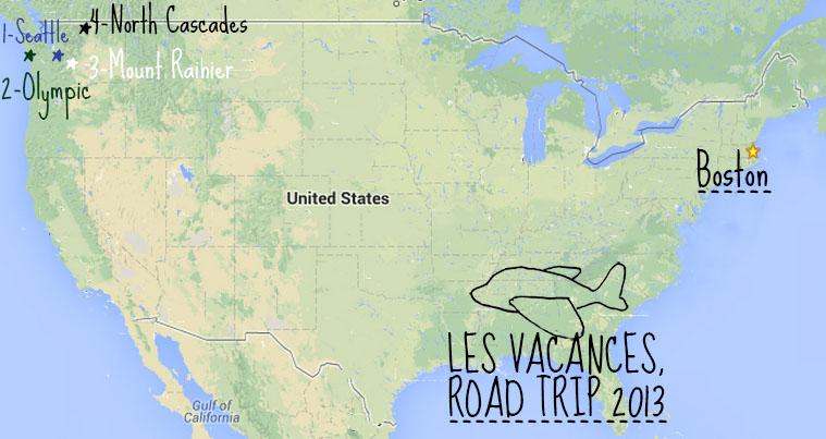 Road trip Nord ouest des Etats-Unis
