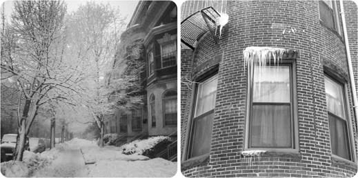 Dans la rue - la neige à Boston