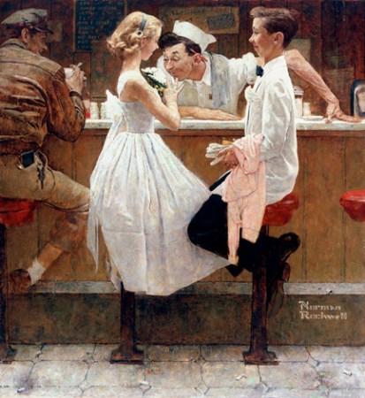 Prom night - Norman Rockwell