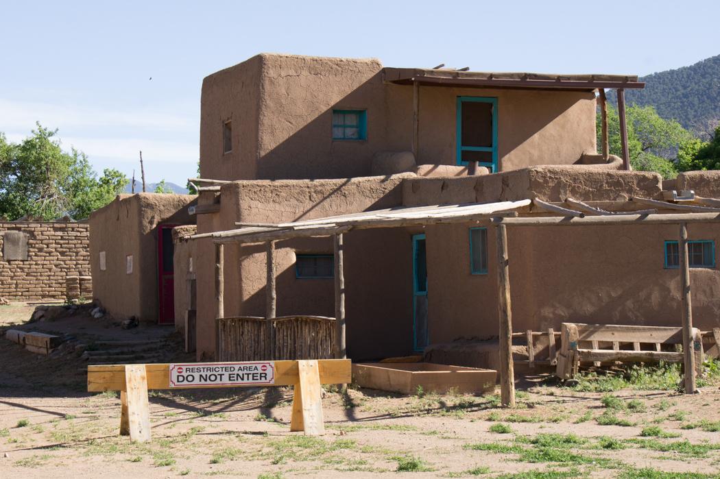 Taos Pueblo - Nouveau Mexique - zones interdites dans le village