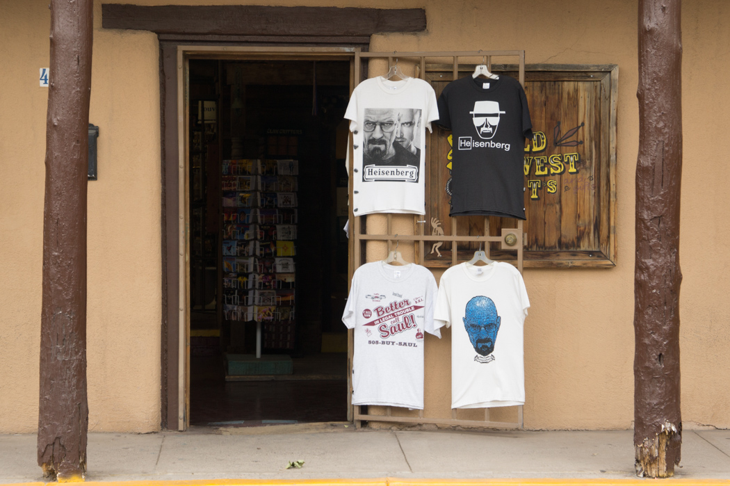 Tee shirts souvenirs Breaking Bad Albuquerque